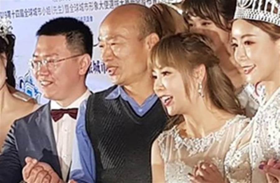 许圣梅与韩国瑜。(取自许圣梅脸书)