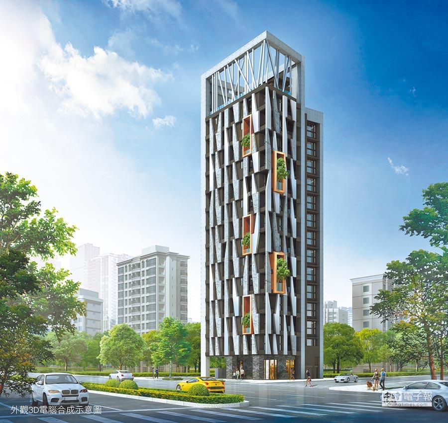 寶舖建設在正羅斯福路推出超乎想像的26坪雙主臥規劃建案「寶舖212」,格局驚艷市場。圖/業者提供