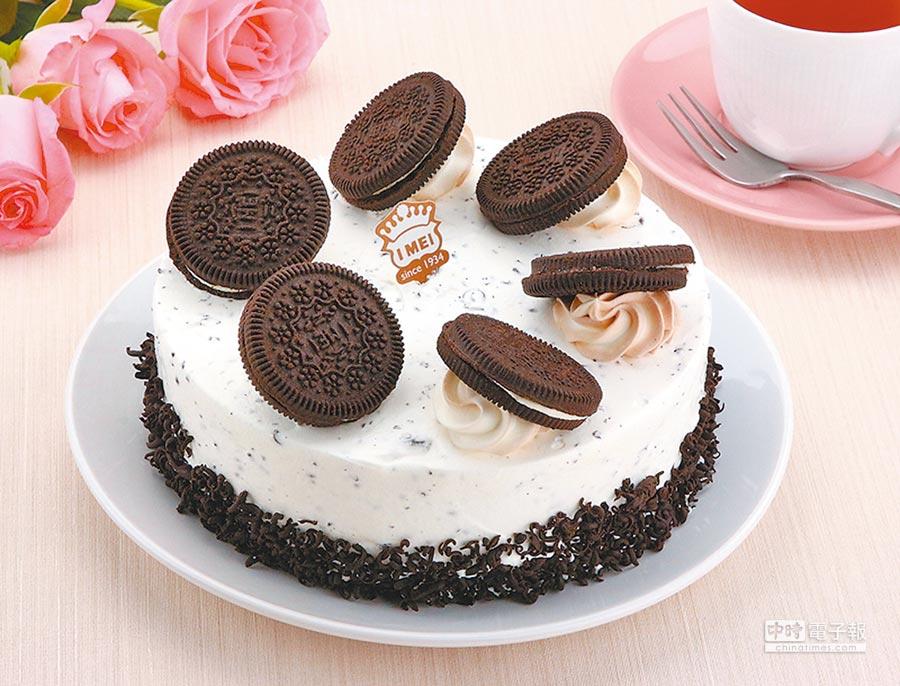 愛買獨家「義美黑炫風冰淇淋蛋糕」6吋,680元。(愛買提供)