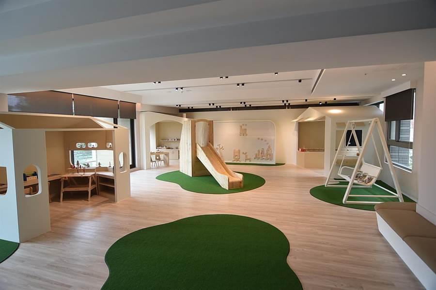 淡水〈蕴泉庄〉规画有自然风格的「亲子童玩间」,有小朋友的家庭到此度假可以使用。(图/姚舜)