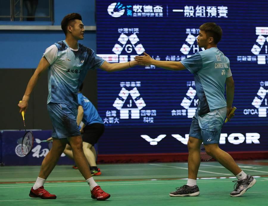 王齊麟(右)一日兩戰,可惜沒能替中華隊拿下4強門票。(資料照片/牧德盃提供)
