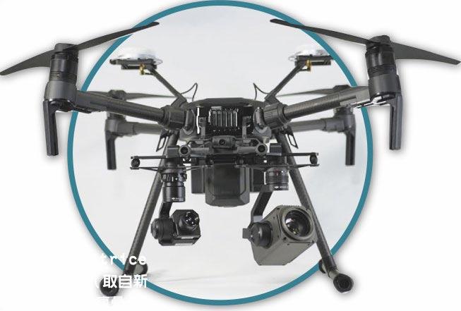 無人機Matrice M210。(取自新浪微博@科技瘋彙)