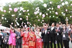 66對新人體驗客家禮俗 桐花婚禮互許終身