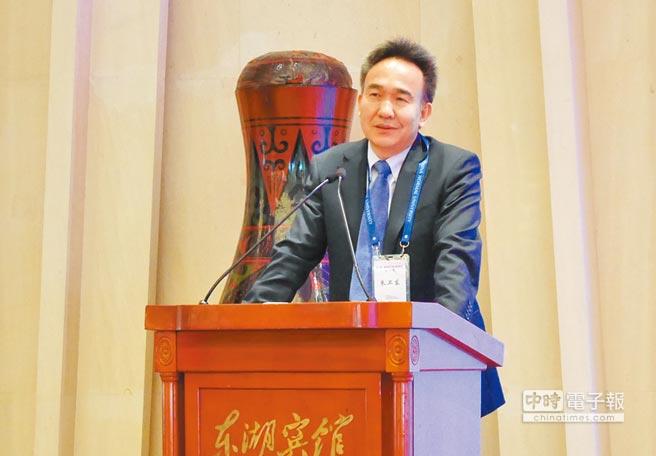 中國社科院台研所副所長朱衛東20日表示,兩制台灣方案不是學術問題,而是政治博弈問題。(記者陳君碩攝)