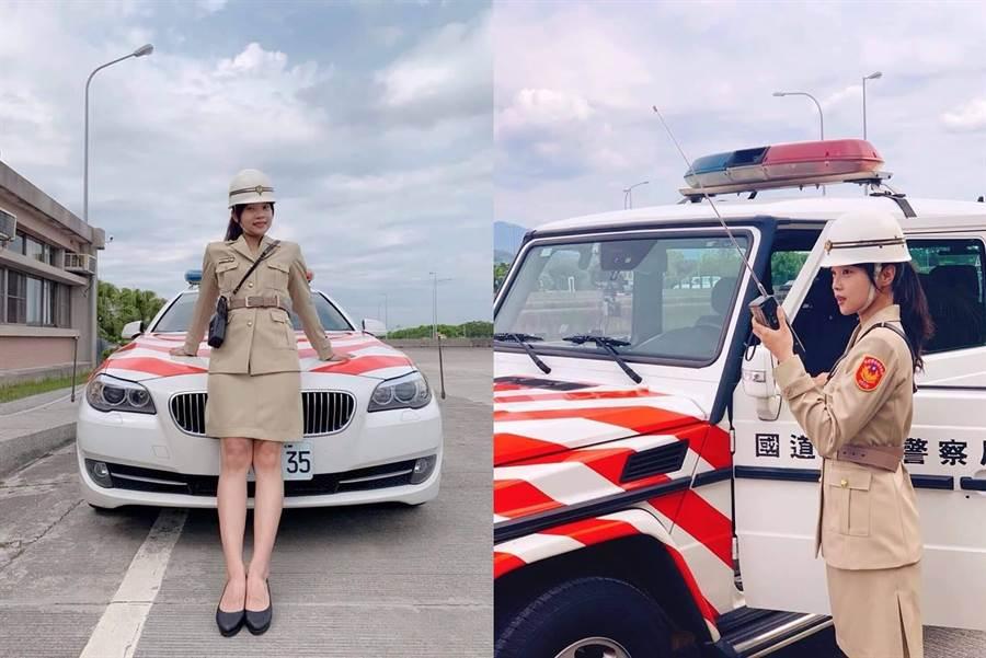 國道女警穿越時空 超正制服照網歪樓(圖/翻攝自國道公路警察局臉書)