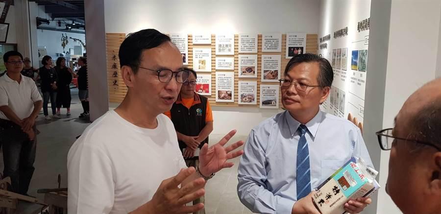 朱立倫「台灣更好立倫行腳」走抵台東。(楊漢聲攝)