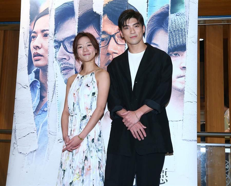 《我們與惡的距離》陳妤、林哲熹出席最終回特別特映會。(粘耿豪攝)