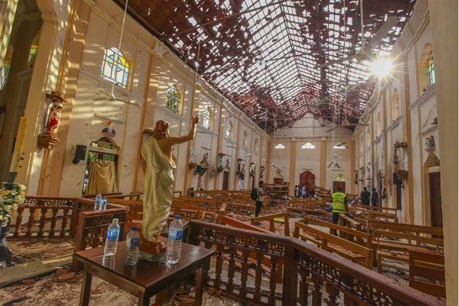 斯里蘭卡爆炸案,是有目的攻擊宗教地點,特別是天主教教堂。(圖/美聯社)