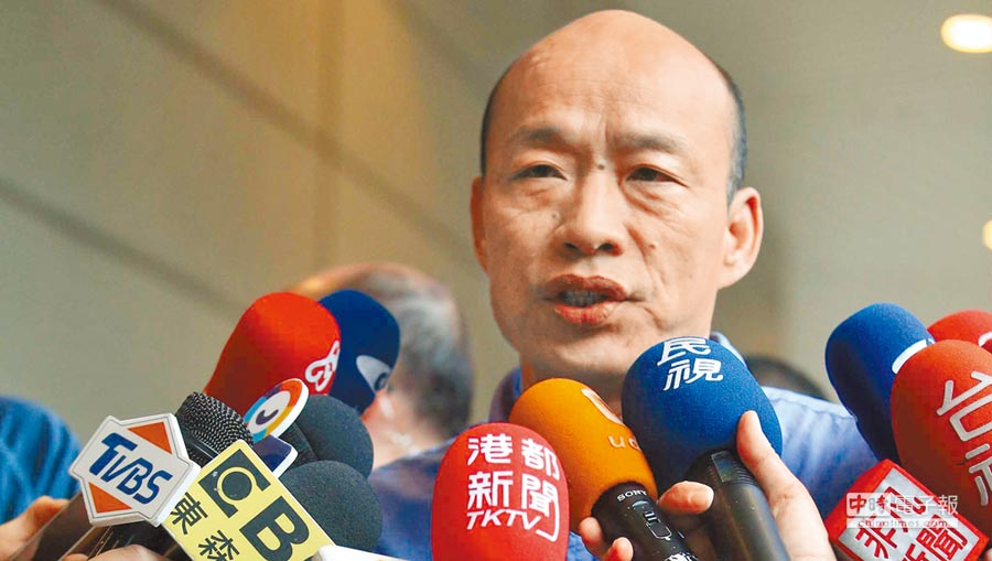 高雄市長韓國瑜20日表示,將盡速發表對於2020選不選總統的正式聲明。(柯宗緯攝)