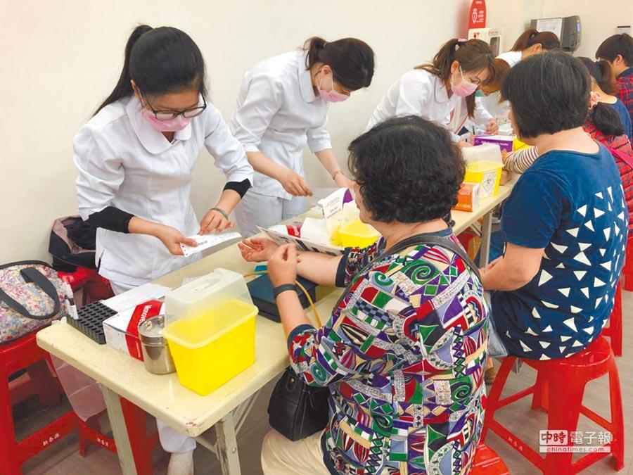 新竹市政府衛生局聯合轄區5大醫院,即日起至10月的假日,舉辦12場社區整合性健康篩檢,鼓勵民眾定期健檢,「早期發現早期治療」。(莊旻靜攝)