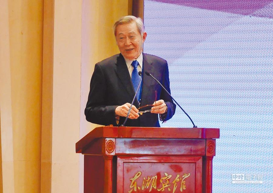 淡江大學榮譽教授趙春山20日指出,台灣也可提出期待的統一方案。(記者陳君碩攝)