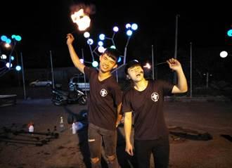 與火共舞 屏科大學生夜市玩火超吸睛