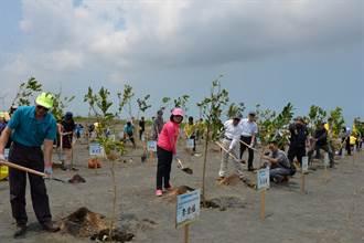 張麗善濁水溪植樹 學校裝設換氣系統守護學童