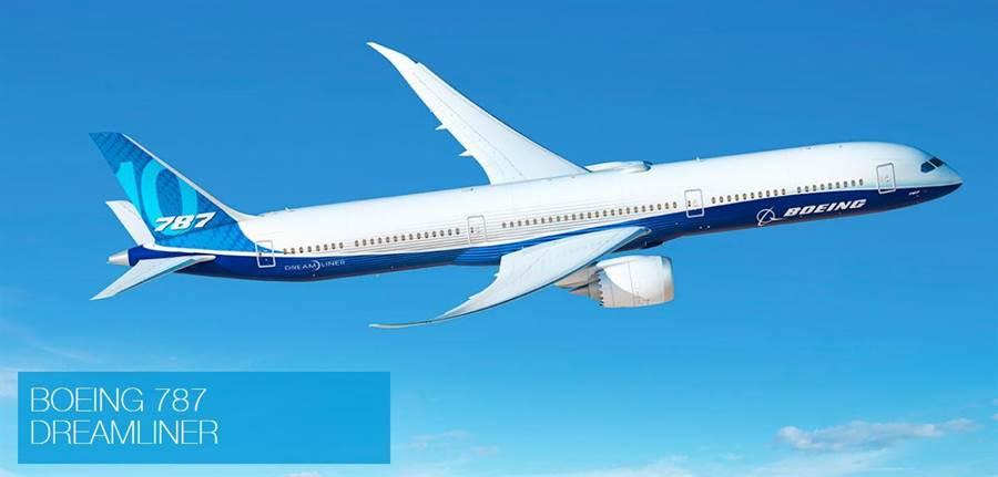 波音787客機。(翻攝波音網頁)