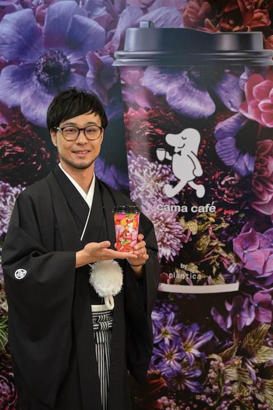 plantica創辦人木村貴史老師與其作品合影。(品牌提供)