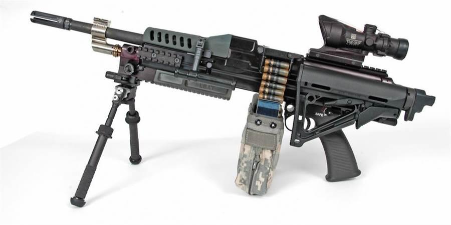 採用CT伸縮子彈的機槍。(圖/美國陸軍)
