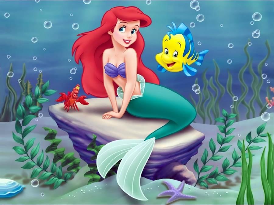 《小美人魚》動畫改編自悲傷的安徒生童話《美人魚》,但卻有圓滿的快樂結局。(牛耳提供)。
