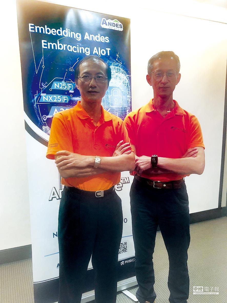 左起分別為晶心科總經理林志明、技術長蘇泓萌積極推廣RISC-V生態系,將於2019年5月9日召開RISC-V CON論壇。圖/蘇嘉維