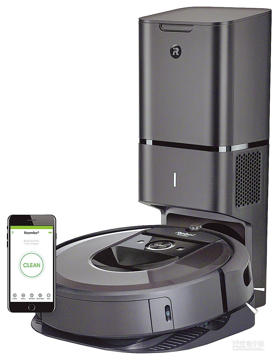 iRobot Roomba i7+,預購價3萬9880元,5月31日前於指定通路購買,即可獲得限量質感收納桶。(iRobot提供)