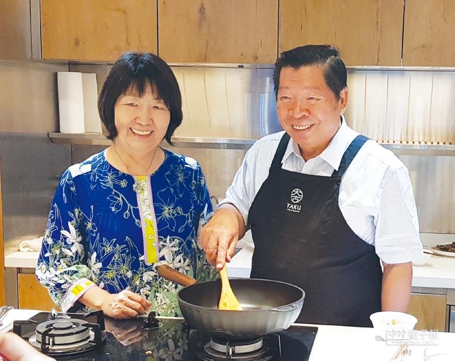 健康美味、幸福新生活 大古鐵器創辦人夫婦林允進、蔡秋琦,用鑄鐵鍋傳遞健康美味、幸福新生活。          圖/王妙琴