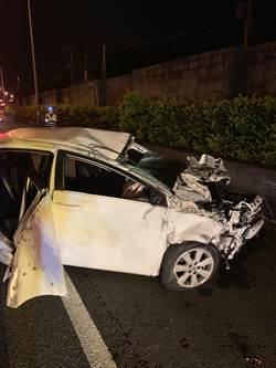 小客車自撞拋飛飼主+柯基犬 釀2死1傷