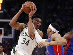 NBA》絕對剋星!公鹿橫掃活塞晉級次輪
