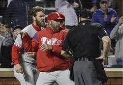 MLB》氣不過主審好球帶 哈波抗議遭趕出場