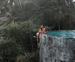 崖邊拍吻照被罵 情侶曝全景:誤會