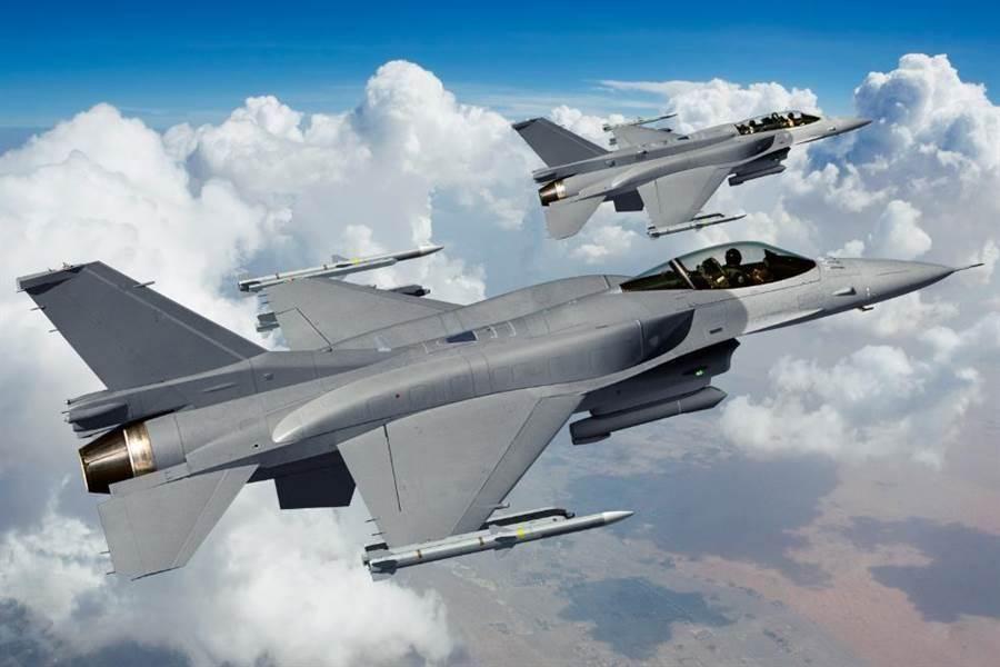 F-16V戰機的資料照。(洛克希德馬丁)