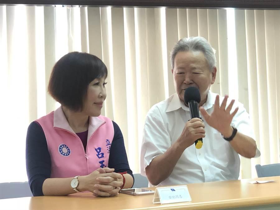 黨部主委楊敏盛強調誰出線都是責任的開始。(蔡依珍攝)