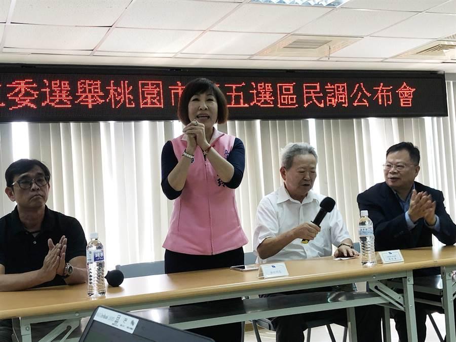呂玉玲說,黨內初選沒有贏家、也沒有勝利的喜悅,感謝鄉親的支持跟肯定。(蔡依珍攝)