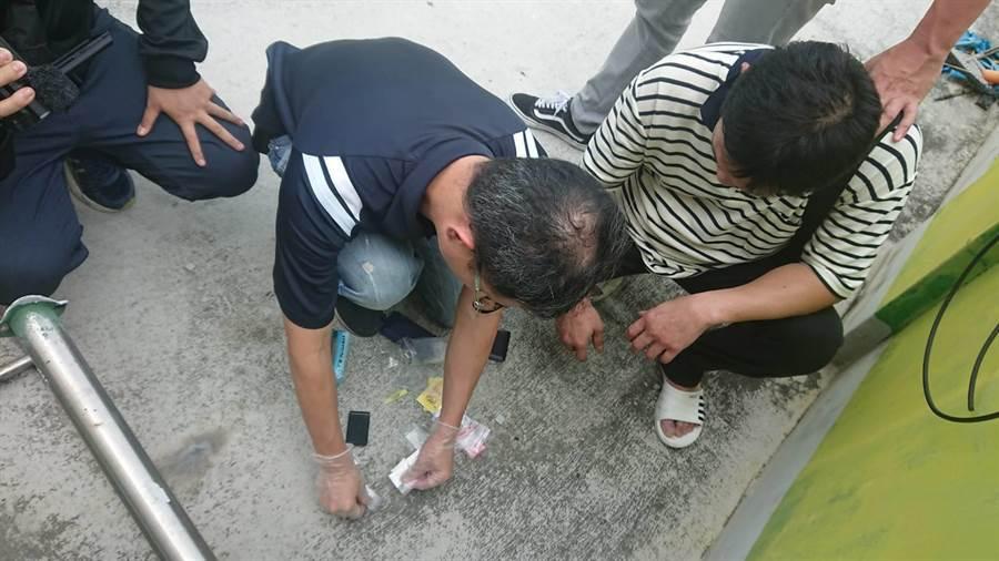 台中市警察局刑事警察大隊偵六隊經常達半年布線跟監,日前逮捕50歲莊男為首販毒集團。(馮惠宜翻攝)