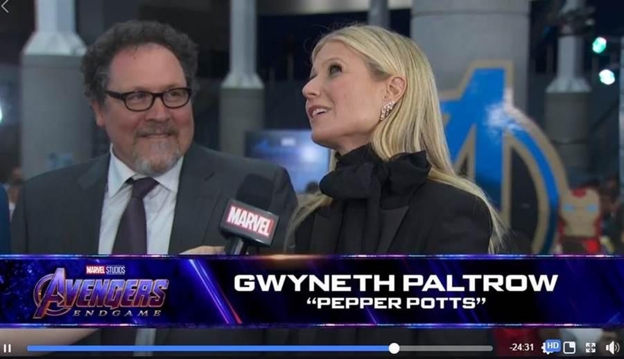 葛妮絲派特洛稍早鬆口自己在《終局之戰》最後一場戲。(圖/翻攝自Avengers臉書)