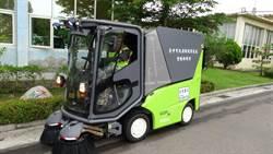 中市府:電動小型掃街車已可用於人行道及廣場
