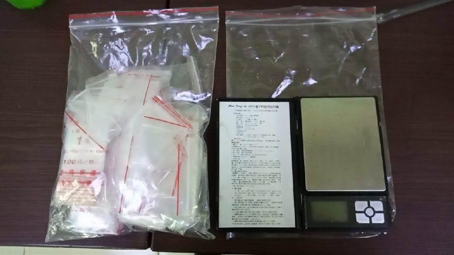 26歲葉姓車主因車輛未掛牌遭警方盤查,赫然發現大量毒品。(賴佑維翻攝)