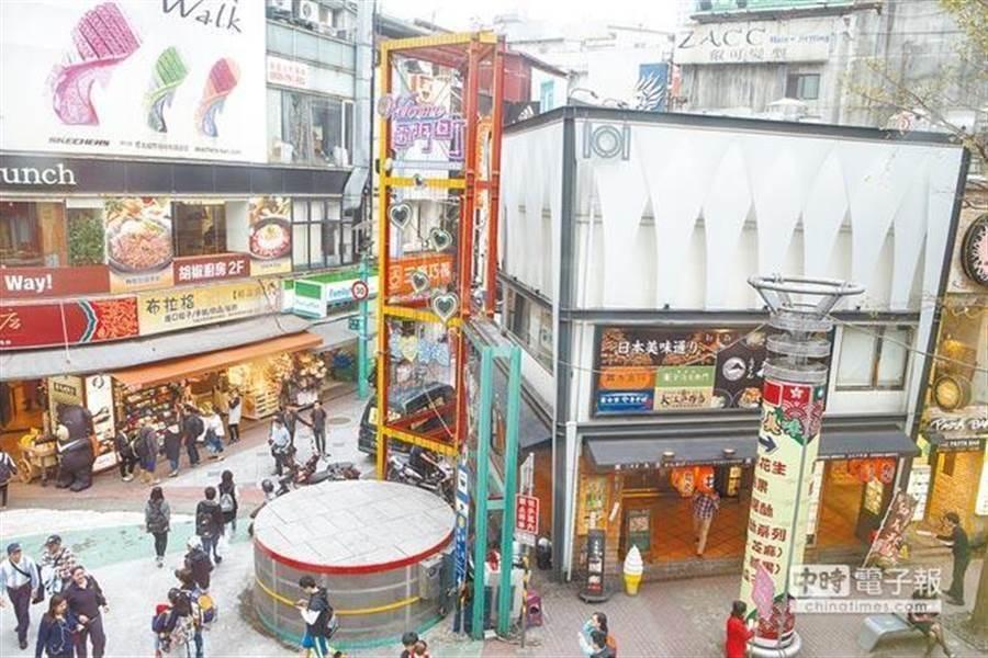 同樣是街邊店面為主的西門商圈、永康商圈,不像東區商圈陷入沒落,人潮卻反而增長。(圖/中時資料照)