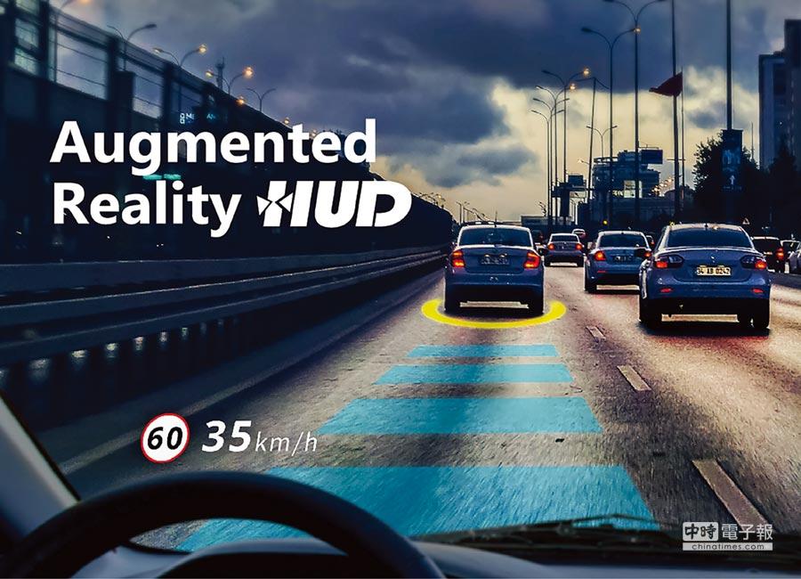 怡利電子的「前擋玻璃抬頭顯示器(WHUD)」可讓駕駛人在安全行車視線範圍內快速輕易的獲得多項行車資訊,大幅提升駕駛安全性。圖/怡利提供
