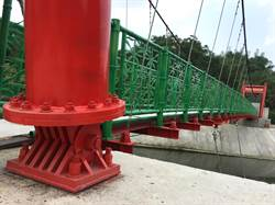 竹山下坪吊橋主體完工 暑假將成市郊觀光新亮點