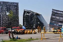 竹市消防局演習 總統親自坐鎮
