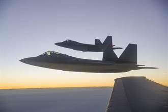 模擬對陸作戰 美F-22 F-16 F-15亞太分散演訓