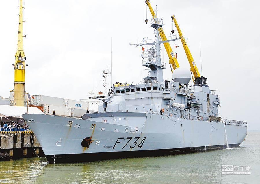 法國海軍巡防艦「葡月號」(Vendemiaire)。(新華社資料照)