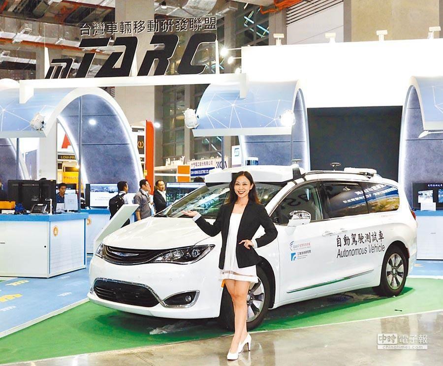 工研院研發全天候多車型自駕車整合系統,昨與新竹市政府簽約,未來自駕車可在南寮上路測試。(工研院提供)