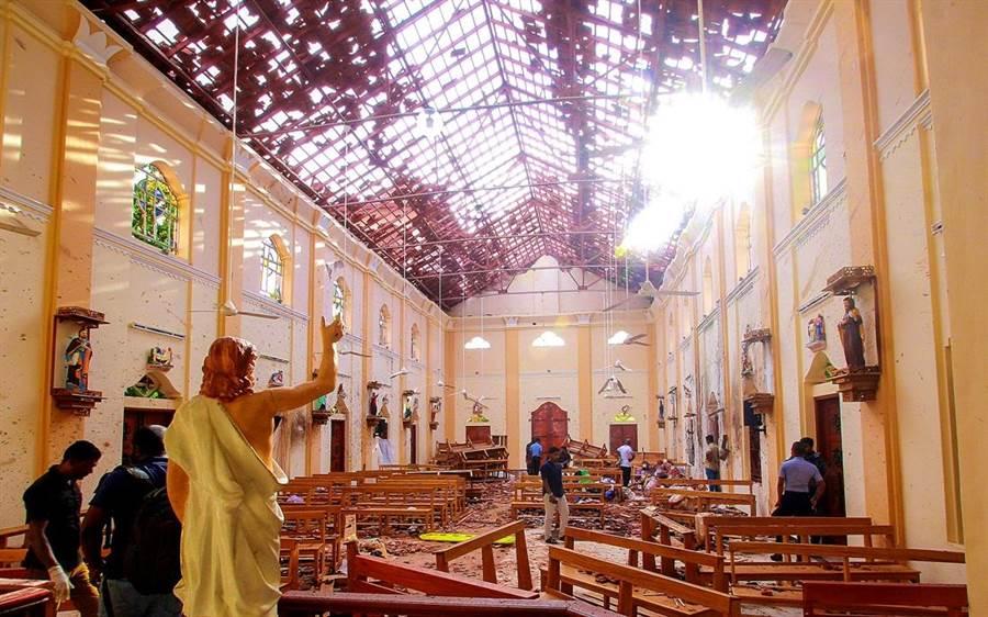 斯里蘭卡25日再傳爆炸。(圖/路透社)