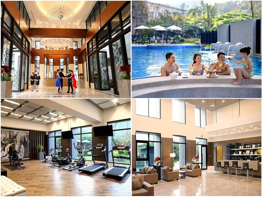 「合陽天擎」的豐富休閒設施,讓不同年齡層的住戶都能享受渡假般愜意生活。(圖/業者提供)