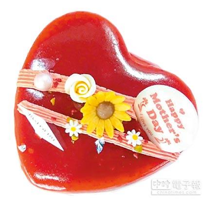 遠百「Bistro 181法式烘焙」紅心皇后莓菓慕斯,6吋、650元。(遠百提供)
