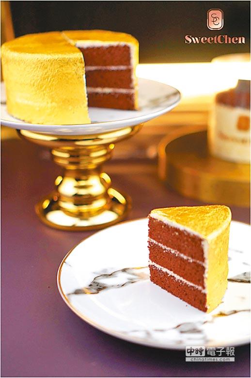遠百「Sweet Chen」金絲絨蛋糕,5吋、約700g,3280元。(遠百提供)