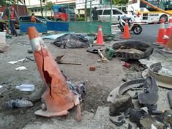 板橋下水道氣爆!3工人受傷 轎車、工廠屋頂被K出大洞