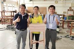 全國技競賽南區賽 家具木工類唯一女選手奪金
