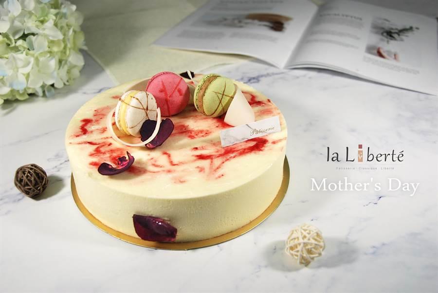 【La Liberte自由‧甜點/覆盆子白巧慕斯蛋糕】
