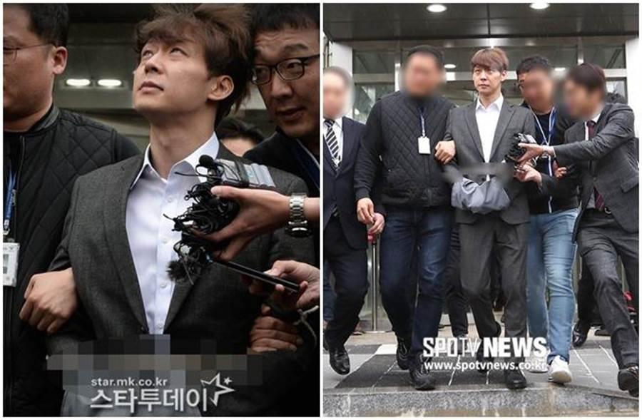 朴有天早前正式被拘捕。(取自韓網)